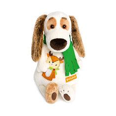 Мягкая игрушка Budi Basa Бартоломей в шарфе и с оленем, 33 см