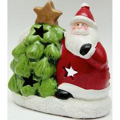 """Подсвечник из керамики """"Дед Мороз с елочкой"""" 12,5*7*14 см Феникс Презент"""