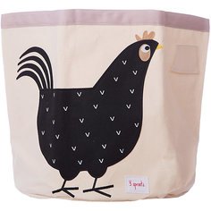 Корзина для хранения 3 Sprouts Чёрная курочка (Black Hen SPR215). Арт. 00043