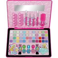 Большой Игровой набор детской декоративной косметики в кейсе, Barbie Markwins