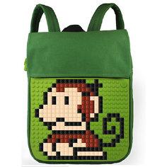 Пиксельный рюкзак Upixel «Canvas Top Lid pixel Backpack», зеленый