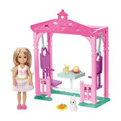 Игровой набор с мини-куклой Barbie Челси с беседкой Mattel