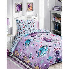 Детское постельное белье 1,5 сп. My Little Pony с десертом на розовом Mona Liza