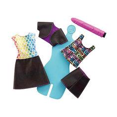 """Игровой набор Barbie Crayola """"Раскрась наряды"""" Радужный дизайн, с голубым манекеном Mattel"""