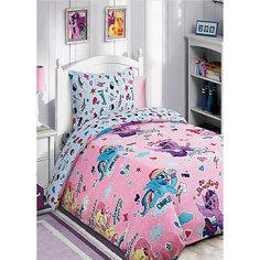 Детское постельное белье 1,5 сп. My Little Pony с десертом на лиловом Mona Liza