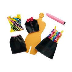 """Игровой набор Barbie Crayola """"Раскрась наряды"""" Радужный дизайн, с оранжевым манекеном Mattel"""