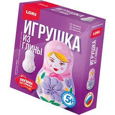 """Набор для творчества LORI """"Лепим игрушку из глины"""" Матрешка"""