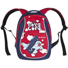 Детский рюкзак Grizzly, синий/красный
