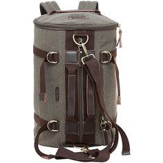 Рюкзак-трансформер Grizzly, серо-коричневый