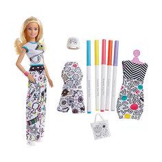 """Игровой набор Barbie + Crayola """"Одежда-раскраска"""", 29 см Mattel"""