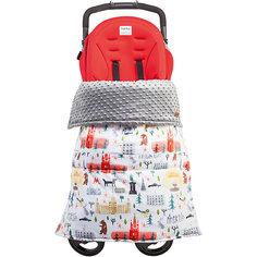 Одеяло-накидка на ноги в коляску Mammie, цвет Москва