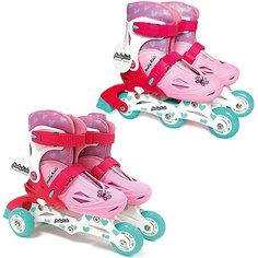 Раздвижные роликовые коньки 2 в 1 Moby Kids 26-29, розовые