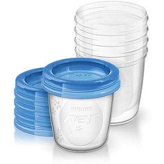 Контейнеры с крышками для хранения питания 5 шт. 180 мл, Philips Avent