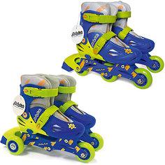 Раздвижные роликовые коньки 2 в 1 Moby Kids 26-29, сине-зелёные