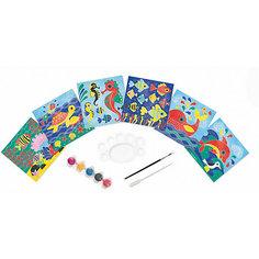 """Набор для творчества: рисуем водой. """"Подводное царство"""", 6 карточек Janod"""