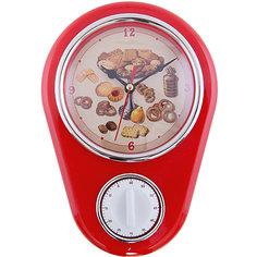 """Кухонные настенные часы """"Печенье"""" с таймером Феникс Презент"""