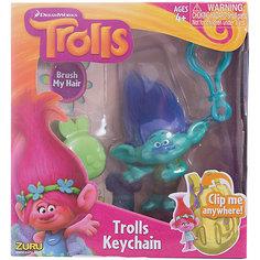Фигурка Тролля Branch, на брелке в наборе с расческой, Тролли Zuru