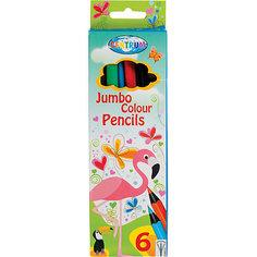 """Цветные карандаши JUMBO """"Жираф"""", 6 цветов Centrum"""
