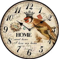 """Часы настольные """"Король птиц"""" кварцевые, с циферблатом, Феникс-Презент"""