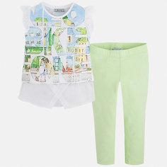 Комплект: футболка с длинным рукавом и леггинсы для девочки Mayoral