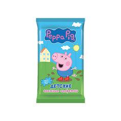 Детские влажные салфетки Peppa Pig 20 шт, Авангард
