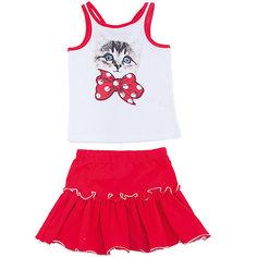 Комплект: майка и юбка для девочки PlayToday