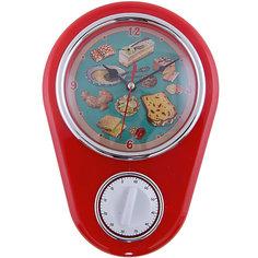 """Кухонные настенные часы """"Ретро-вкусности"""" с таймером Феникс Презент"""
