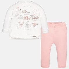 Комплект: футболка с длинным рукавом и леггинсы Mayoral для девочки