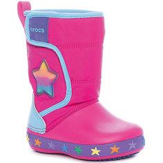 Сноубутсы CrocsLodgePt Lights Star для девочки