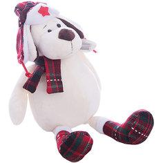 """Мягкая игрушка TEDDY """"Собака в ушанке с шарфом"""", 24 см"""