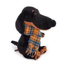Мягкая игрушка Budi Basa Собака Ваксон в шарфе, 25 см