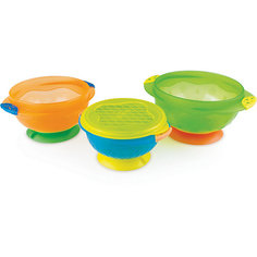 Набор детских тарелок на присосках 3шт., Munchkin