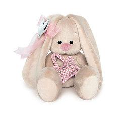 Мягкая игрушка Budi Basa Зайка Ми с сумочкой и сердечком, 15 см