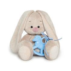 Мягкая игрушка Budi Basa Зайка Ми с голубой лошадкой, 15 см