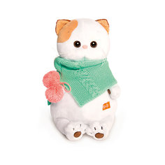 Мягкая игрушка Budi Basa Кошечка Ли Ли в бирюзовом снуде, 24 см