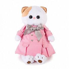 Мягкая игрушка Budi Basa Кошечка Ли Ли в розовом плаще с серым бантиком, 24 см