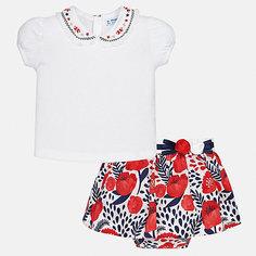 Комплект: футболка, юбка Mayoral для девочки