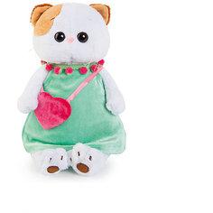 Мягкая игрушка Budi Basa Кошка Ли-Ли в мятном платье с розовой сумочкой, 24 см