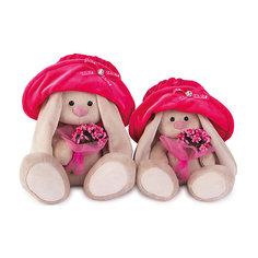 Мягкая игрушка Budi Basa Зайка Ми в бархатной шляпе с букетом, 18 см
