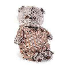 Мягкая игрушка Budi Basa Кот Басик в шелковой пижамке, 25 см