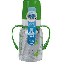 Бутылочка тритановая 120 мл. 3+, Canpol Babies, зеленый