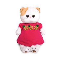 Мягкая игрушка Budi Basa Кошечка Ли-Ли в малиновом платье с цветочками, 24 см