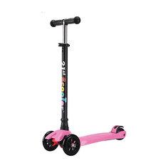 Детский трехколесный самокат Midi, розовый Buggy Boom