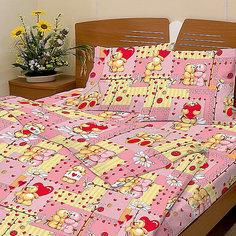 """Розовый комплект """"Барни"""" 1,5-спальный (наволочка 50х70см), Letto"""