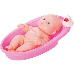 Кукла Карапуз в ванночке, девочка, 20 см, Весна