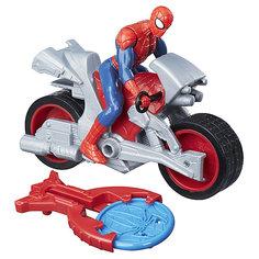 Фигурка с транспортным средством Marvel Spider-man Человек-паук на мотоцикле Hasbro