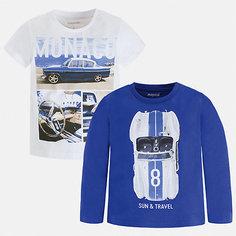 Комплект:Футболка с длинным рукавом,футболка Mayoral для мальчика