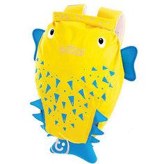 """Рюкзак для бассейна и пляжа """"РЫБА ПУЗЫРЬ"""", желтый Trunki"""