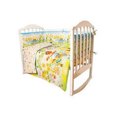 """Комплект в кроватку 6 предметов Baby Nice, """"Сказки"""" Теремок, желтый"""