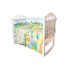 Комплект в кроватку 6 предметов Baby Nice, Гуси-Лебеди, салатовый